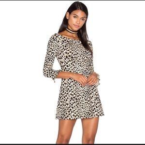 Motel Triton Cheetah Mini Skater Dress- Revolve-Sm